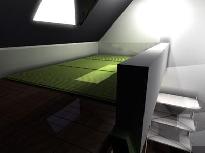 アパート室内:ロフトの上