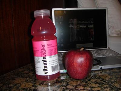 ビタミンウォーターとりんご