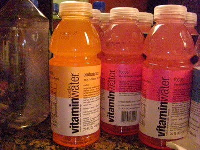 今日のvitamine water-peach mango
