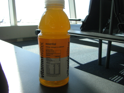 今日のvitamin water-orange orange