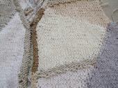 襟の縁編み