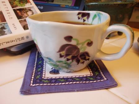 お気に入りの、黒百合のカップ