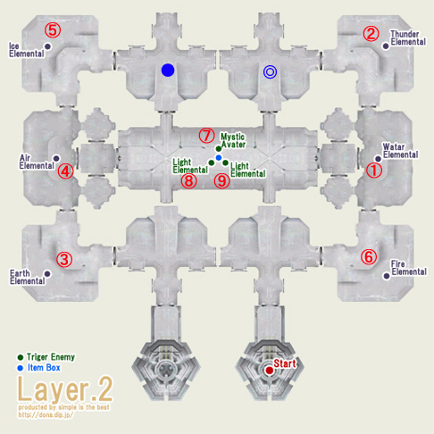 テメナス2階はこんな感じです。そう、3階とは、中央付近以外は似てます!