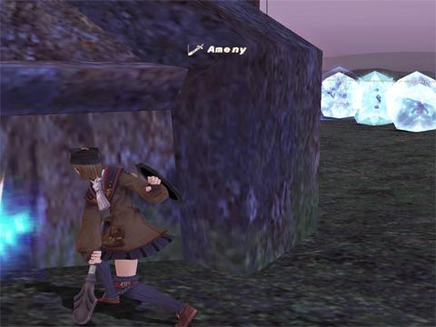 壁殴りながら、NPCにプロテスしま~す!