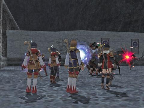 殲滅直前、手前のヒュム♀4人が石になったとこです・・いしししw
