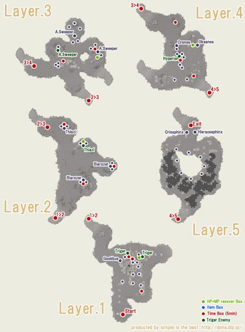 アポリオンNEの地図です、4層時間箱発見(おそ)!