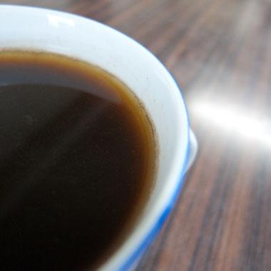 コーヒーの油分