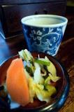 石橋 漬物とお茶