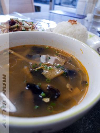 マンダレーレストラン スープ
