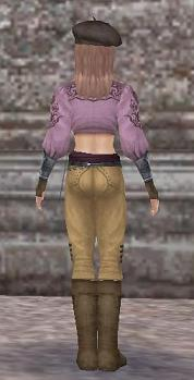 PS3服背面ピンク