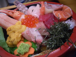 海鮮丼(うに入り)