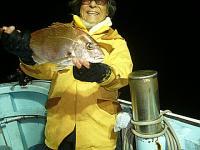 夜釣りでの真鯛