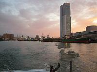 新潟港の夕暮れ