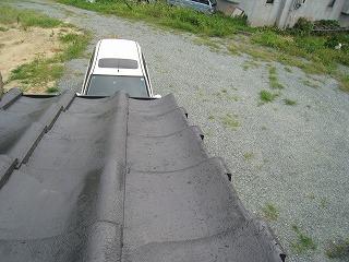 屋根瓦かけ