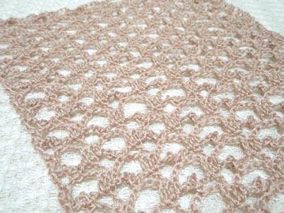 ストール編み地