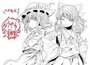 霊夢&魔理沙+α