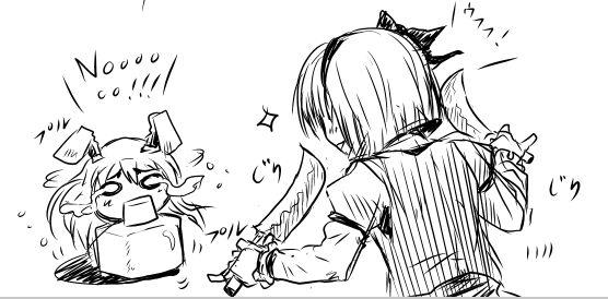 ナタデココうどん&鉈妖夢