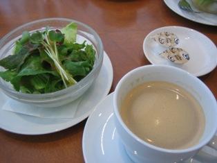 サラダ コーヒー