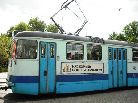 トラムにも「HBT FESTIVALEN 2008」の広告