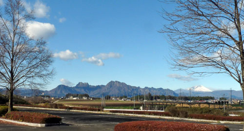 妙義山と浅間山