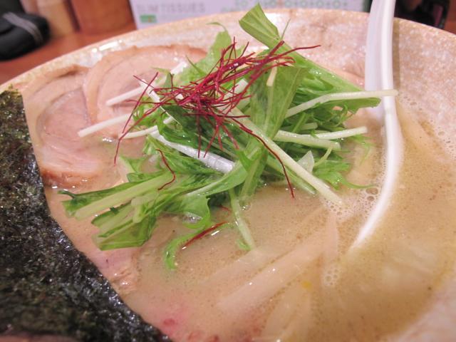 水菜と糸唐辛子
