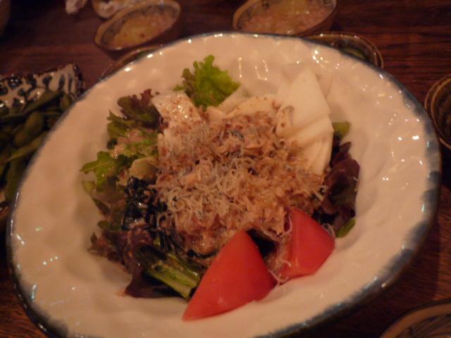 松木野菜のサラダ