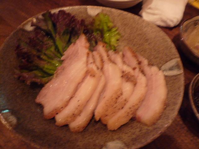 沖田牧場の黒豚のグリル