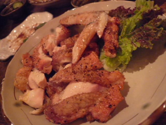 駿河軍鶏の肉