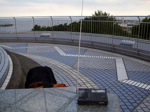 野島公園の展望台でワッチ