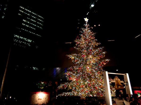 日テレのクリスマスツリーイルミネーション
