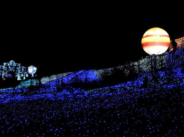 「さがみ湖イルミリオン'11-'12」 光の海の風景(5) 木星と地球