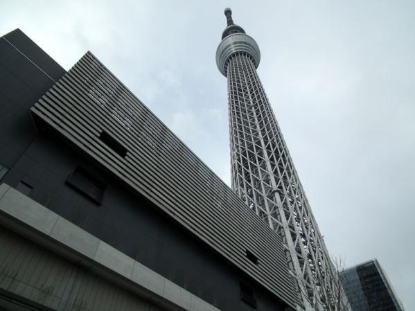 東京スカイツリーを真下で