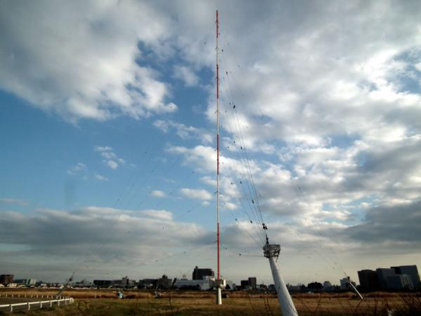 RFラジオ日本 多摩川送信所の風景