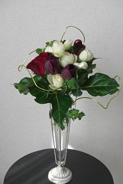 バレンタインのミニ花束