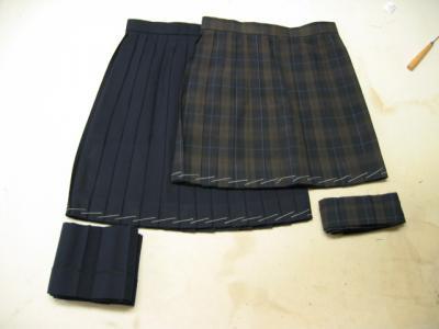 スカート丈色々。