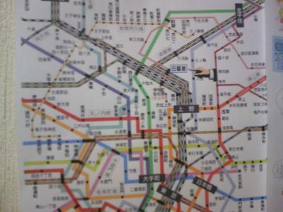 電車の地図。