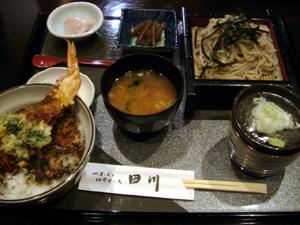 田川:天丼と皿そば