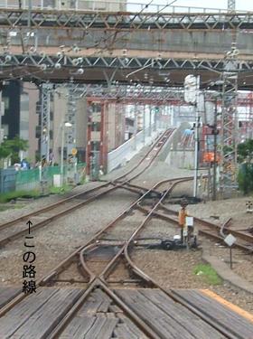 小田急線の鉄道高架化事業の下り線部分