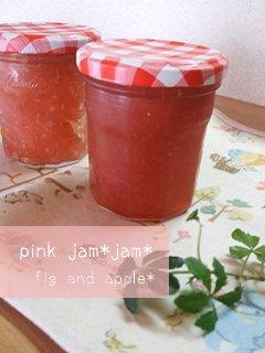 ピンク色のジャム