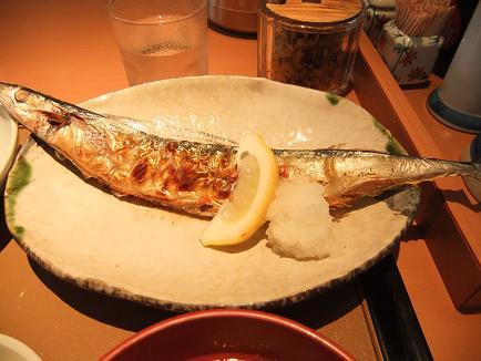 やよい軒明野店「さんまの塩焼と鶏根菜の定食」2