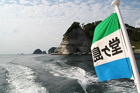 堂ヶ島で遊覧船に乗ったですよ。