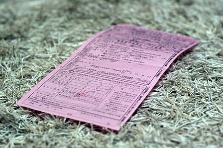 思い出の赤切符。