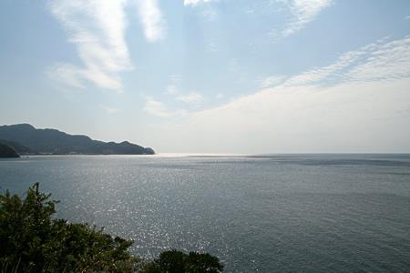 恋人岬から望む海。