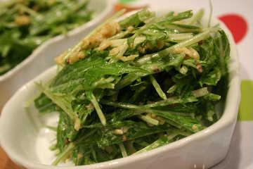 水菜のマスタードマヨ和え アップ