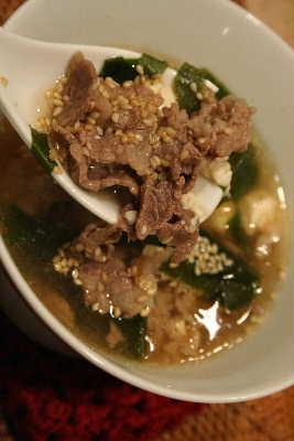 韓国風肉わかめスープ アップ