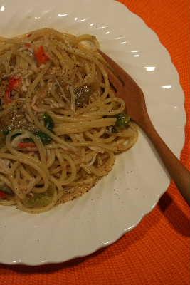 蟹とレタスのスパゲッティ ふかん