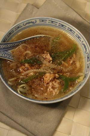 チンジャオロースープ