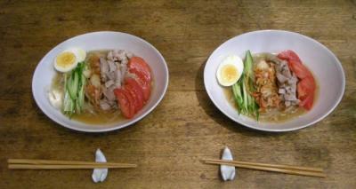 さっぱり冷麺!今夜は韓国料理。2008.5.17