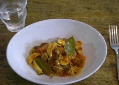 エリンギと牛肉のトマトパスタ。2008.5.28