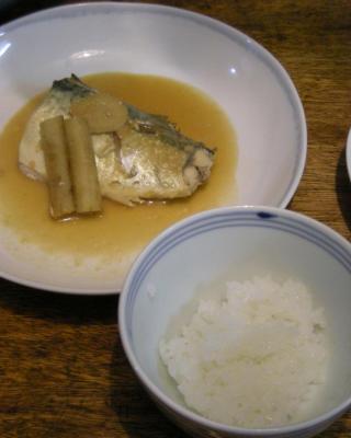 サバの味噌煮と炊きたてふっくらご飯!!2008.6.5